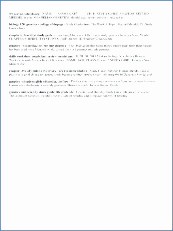 Heredity Traits Worksheets Awesome 7th Grade Printable Worksheets