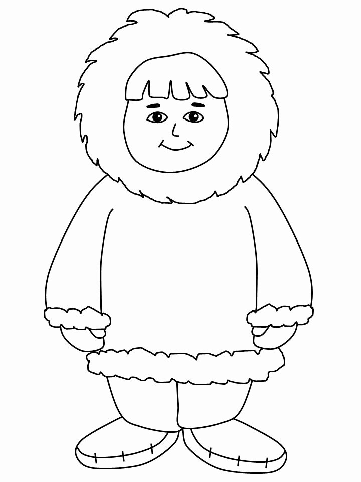Hibernation Coloring Page Eskimo Coloring Pages Printable Coloring Pages