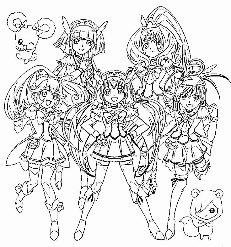 Hibernation Coloring Page Glitter force Coloring Pages Printable