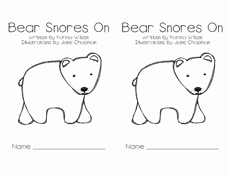 Hibernation Worksheets for Preschool Hibernating Animals Coloring Pages Hibernation Bear Page