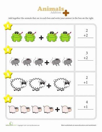 Hidden Animal Pictures Worksheets 21 Elegant Easy Addition Worksheets