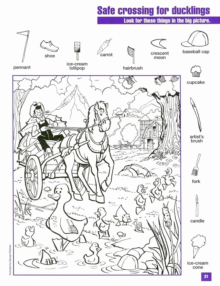 Hidden Animal Pictures Worksheets Google Visual Perception
