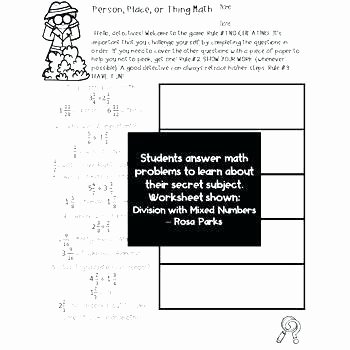 Hidden Picture Math Worksheets Mystery Worksheets