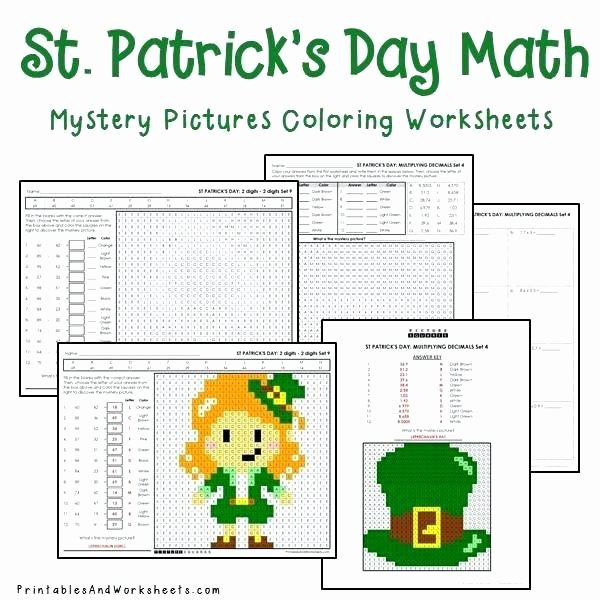 Hidden Picture Math Worksheets St Day Math Mystery Coloring Worksheets Bundle