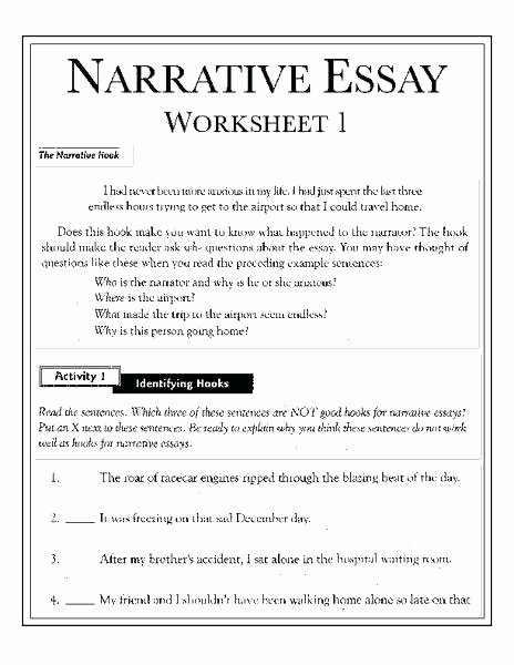High School Essay Writing Worksheets Creative Writing Worksheets for Grade 1 High School Essay
