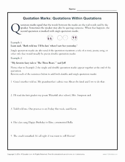 High School Punctuation Worksheets Punctuation Practice Worksheets