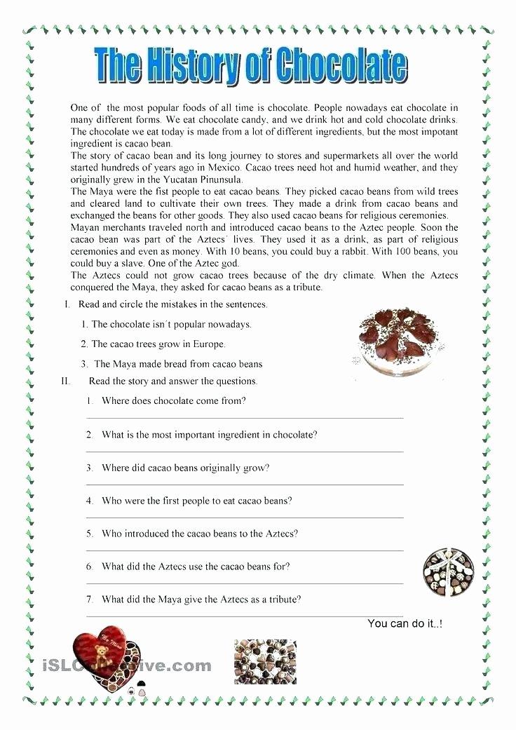 High School Spanish Worksheets Spanish Reading Prehension Worksheets