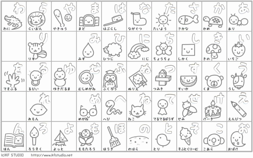 Hiragana Reading Practice Sheets Lovely 27 Hiragana Charts Stroke order Practice Mnemonics and