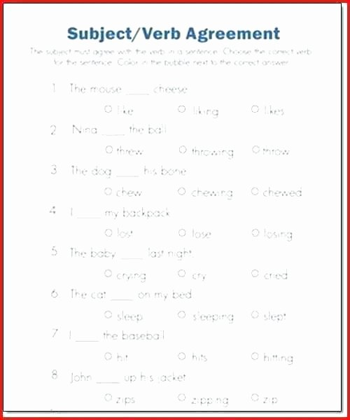 Hiset social Studies Worksheets Subject Verb Agreement Worksheets Grade 5 Subject Verb