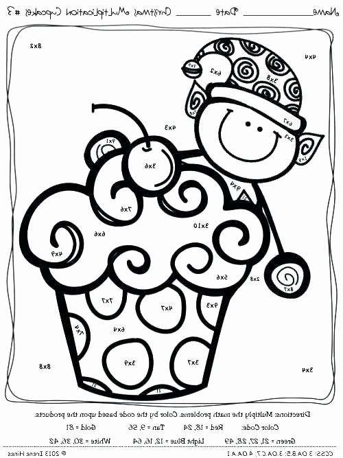 Holiday Color by Number Worksheets Math Coloring Pages for Third Grade Color by Number Addition
