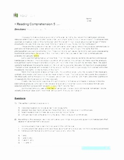 Holiday Reading Comprehension Worksheets Free Elegant Reading Prehension Worksheets English for Everyone Year 9