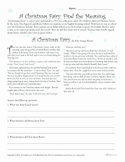 Holiday Reading Comprehension Worksheets Free Fresh Free Reading Ehension Worksheets A Printable for Grade 1