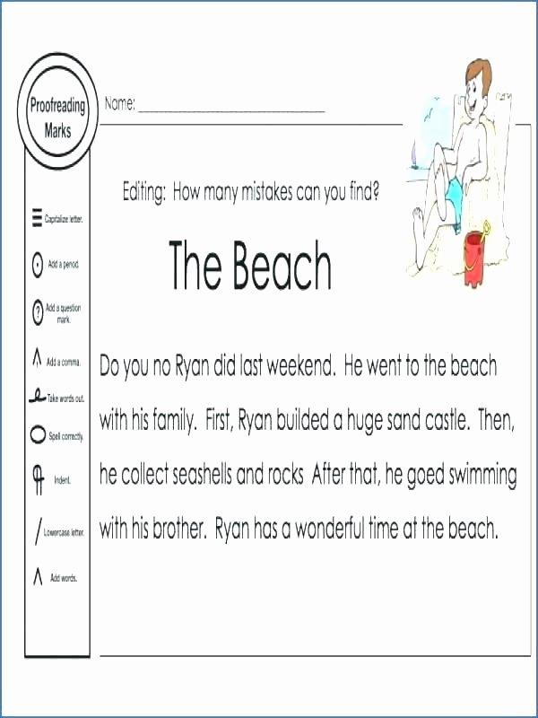 Homograph Worksheets 5th Grade Fifth Grade Proofreading Worksheets Capitalization Rules
