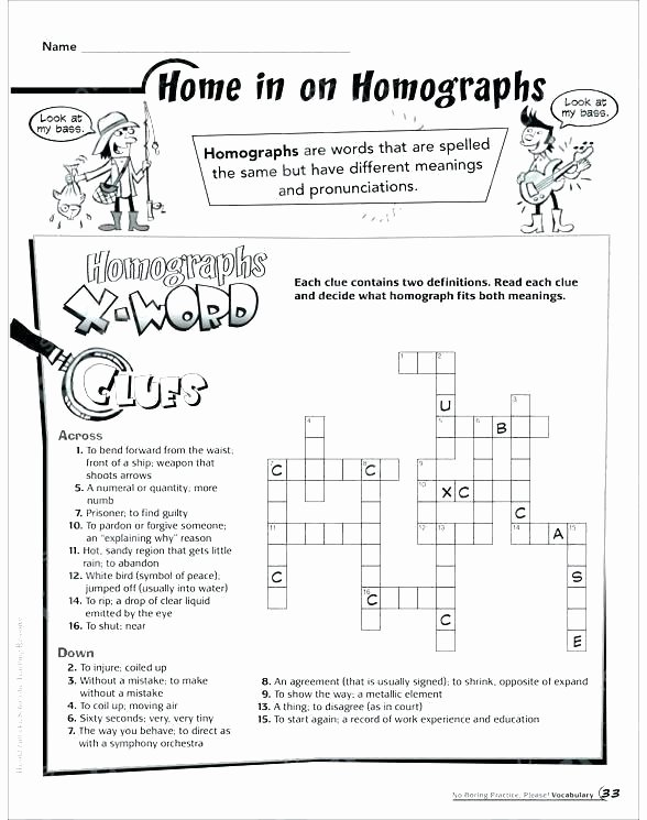 Homographs Practice Worksheets Free Printable Worksheets Synonyms Antonyms and Homonyms