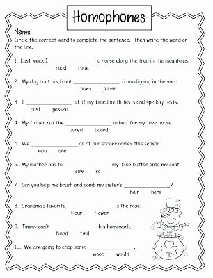 Homographs Practice Worksheets Homophones Full Screen Printable Worksheets Homonyms High