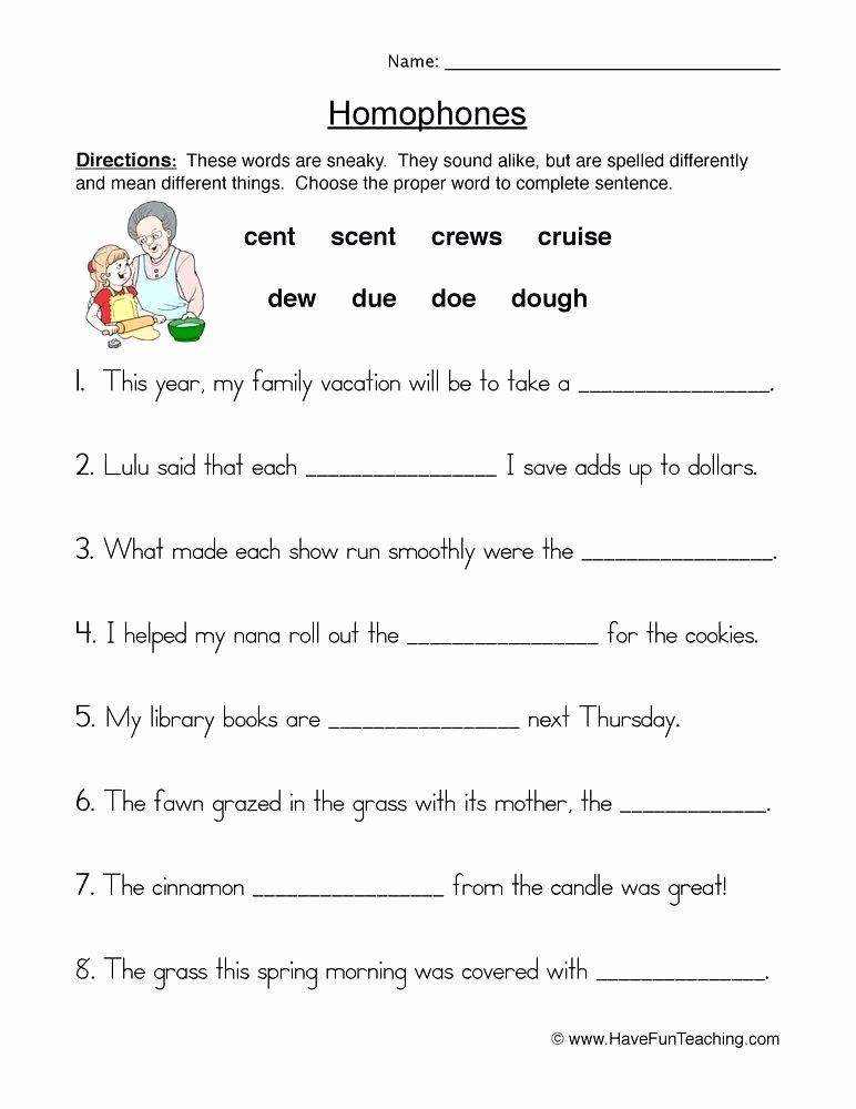 Homographs Worksheets Pdf Homophones Worksheets for Grade 5