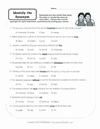 Homonym Worksheets High School Bacteria Middle School Worksheets