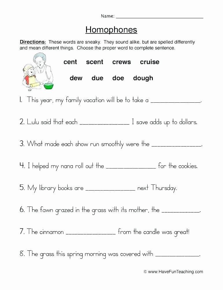 Homonyms Worksheet Pdf Homonyms Worksheets