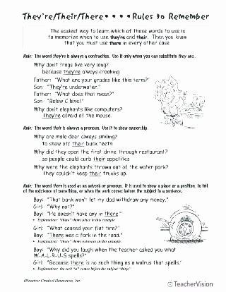 Homonyms Worksheet Pdf their there they Re Worksheets