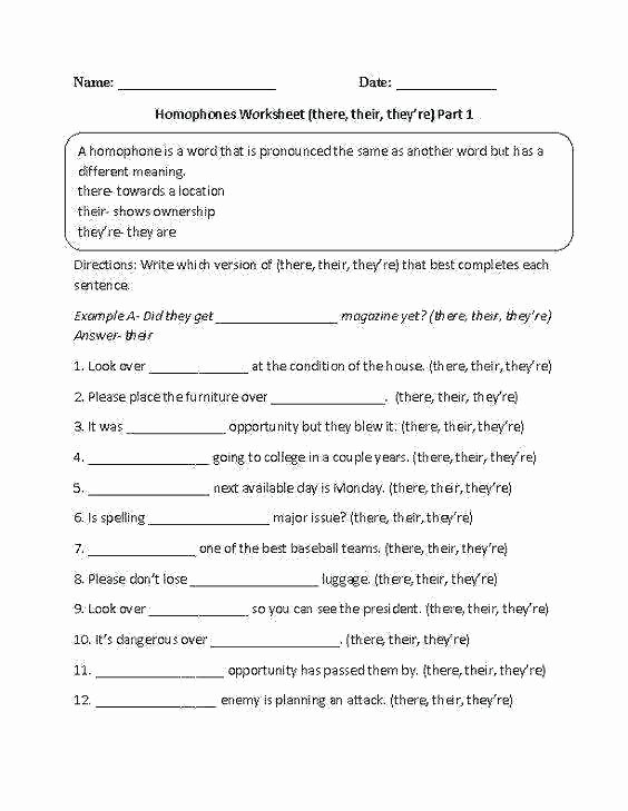 Homonyms Worksheets 5th Grade Fifth Grade Proofreading Worksheets Capitalization Rules
