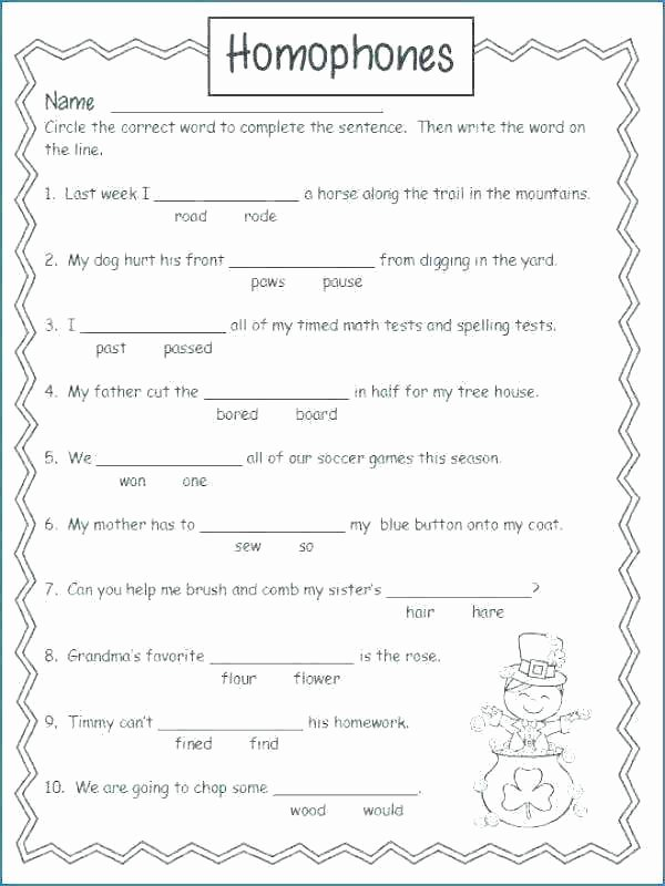 Homophone Worksheets 5th Grade Homophones Worksheets Homophone Worksheet their there for
