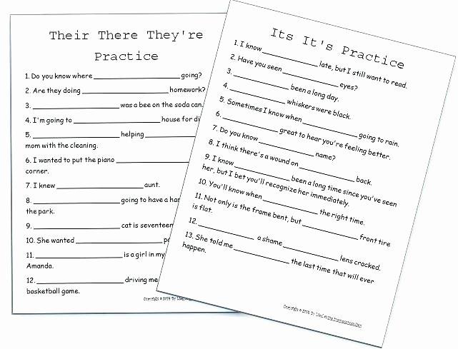 Homophone Worksheets Middle School Free Homophone Worksheets Middle School Nice Grammar the No