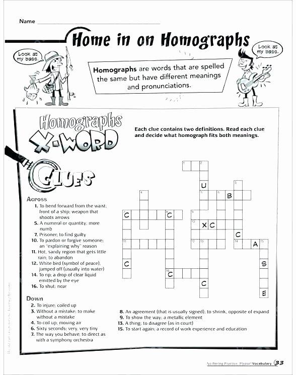 Homophone Worksheets Middle School Homograph Worksheets 5th Grade