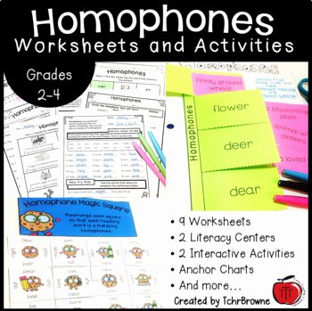 Homophones Anchor Chart Your You Re Homophones Worksheets & Teaching Resources