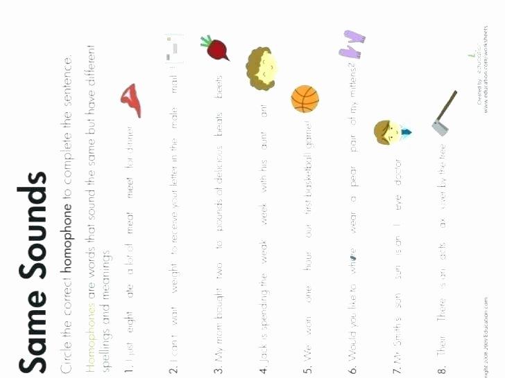 Homophones Worksheet 5th Grade Guide Words Worksheets for 4th Grade – Domiwnetrzefo