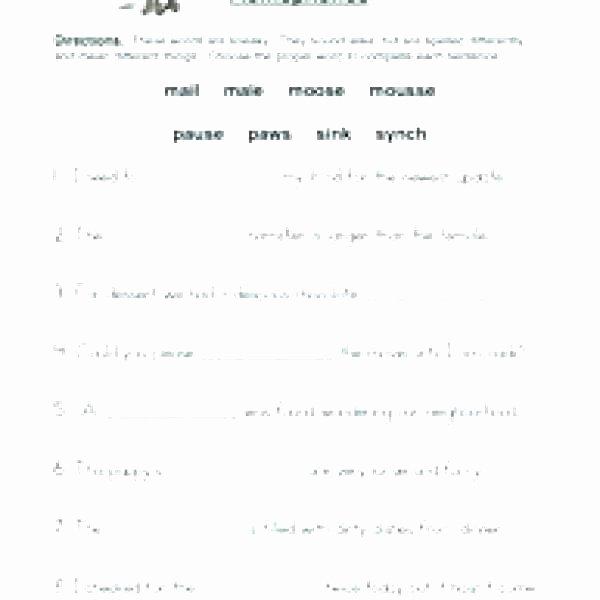 Homophones Worksheet 5th Grade Homographs Worksheets for Grade 2 Homograph Homophones 4 and