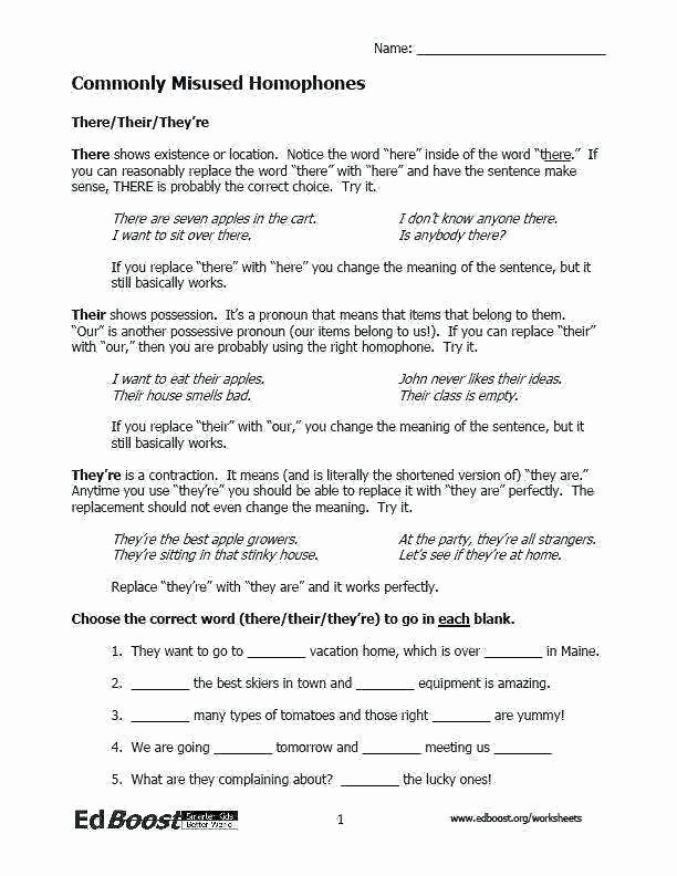 Homophones Worksheet 6th Grade 5th Grade Language Arts Worksheets