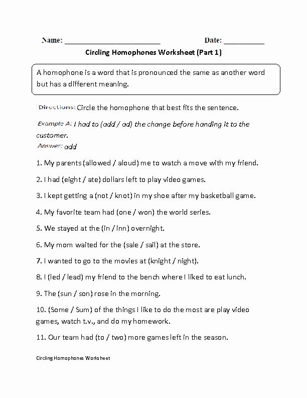 Homophones Worksheet 6th Grade Sam England Samengland 2 On Pinterest