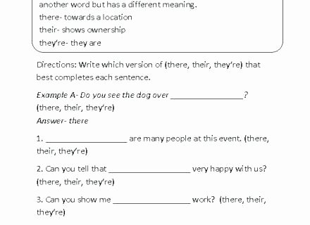 Homophones Worksheet 6th Grade there Worksheet Homophones Worksheets their they Re S