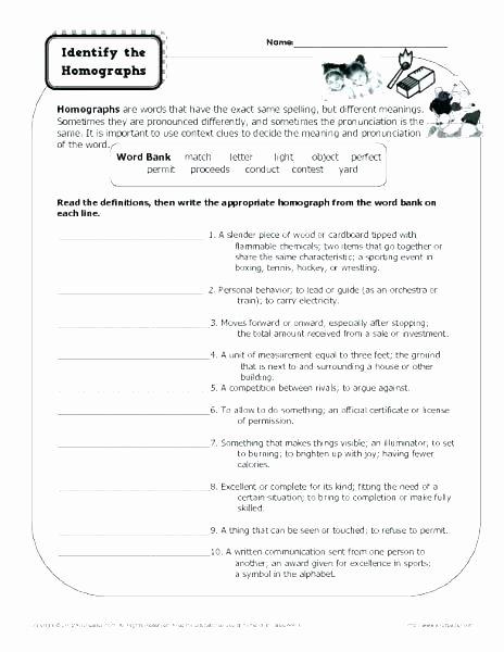 Homophones Worksheet High School Free Homophone Worksheets
