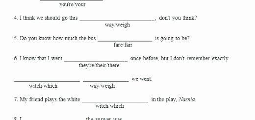 Homophones Worksheet High School their there they Re Worksheets Its Your Way Weigh and Other