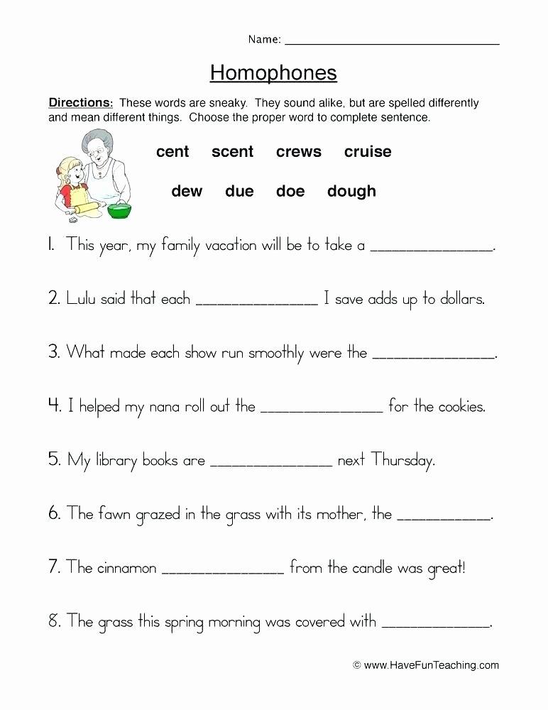Homophones Worksheet Pdf 9 Best Beginning Cursive Writing Worksheets Free