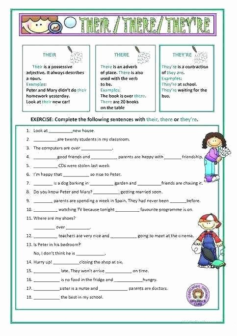 Homophones Worksheet Pdf their there they Re Worksheets