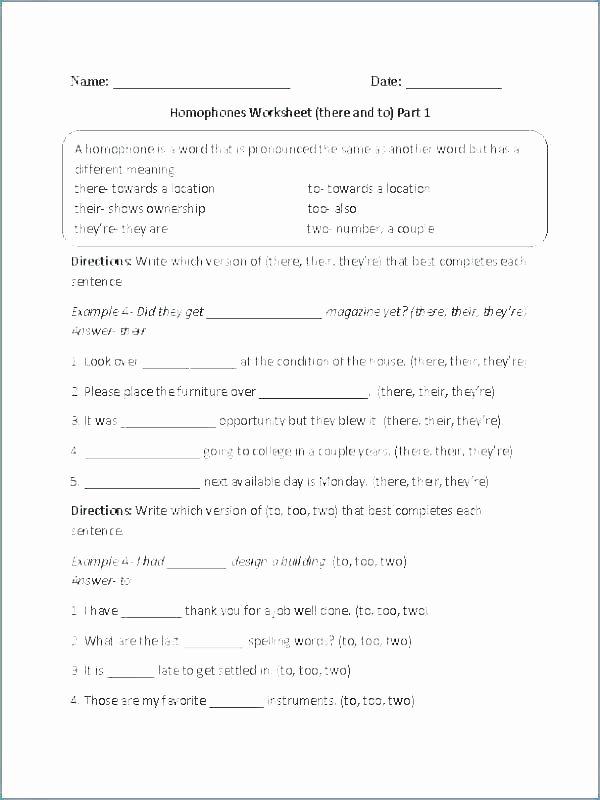 Homophones Worksheets 2nd Grade Free Grammar Worksheets for Grade 3 Fourth Grade English