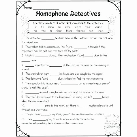 Homophones Worksheets 2nd Grade Homonyms Worksheets for Third Grade to Synonyms Antonyms