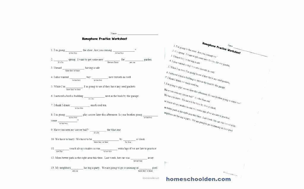 Homophones Worksheets 4th Grade Homographs Practice Worksheets Homonyms for Grade Download