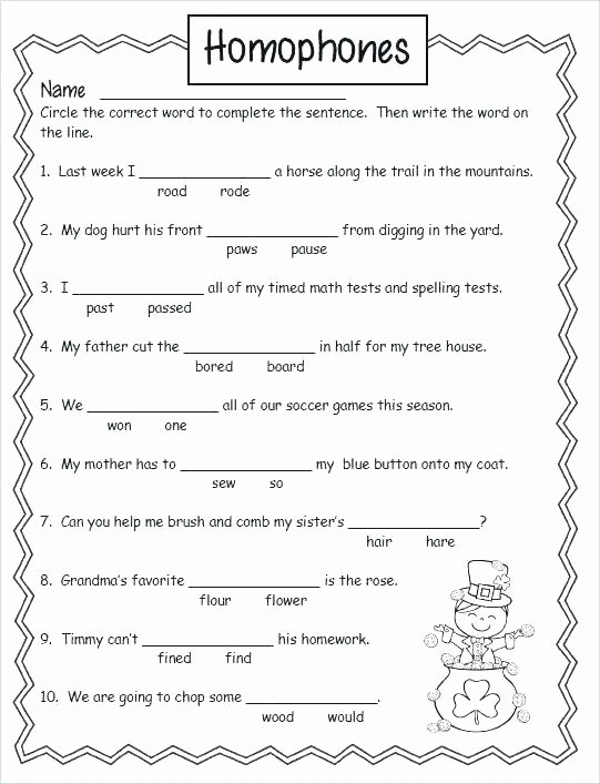 Homophones Worksheets for Grade 5 Homographs Practice Worksheets Homonyms and Homophones