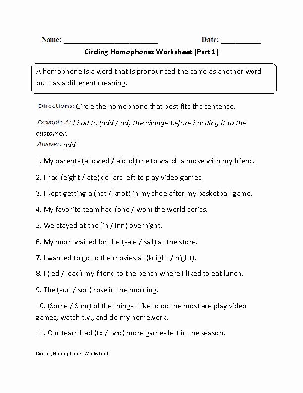 Homophones Worksheets for Grade 5 Sam England Samengland 2 On Pinterest