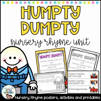 Humpty Dumpty Printable Book Humpty Dumpty Sequencing Worksheets & Teaching Resources