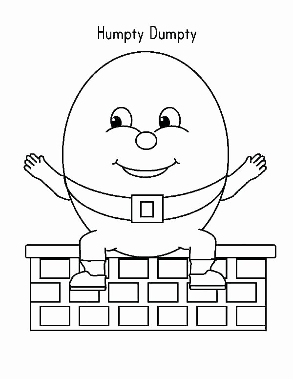 Humpty Dumpty Printable Book Jack and Jill Nursery Rhyme Coloring Page – thecandlelady