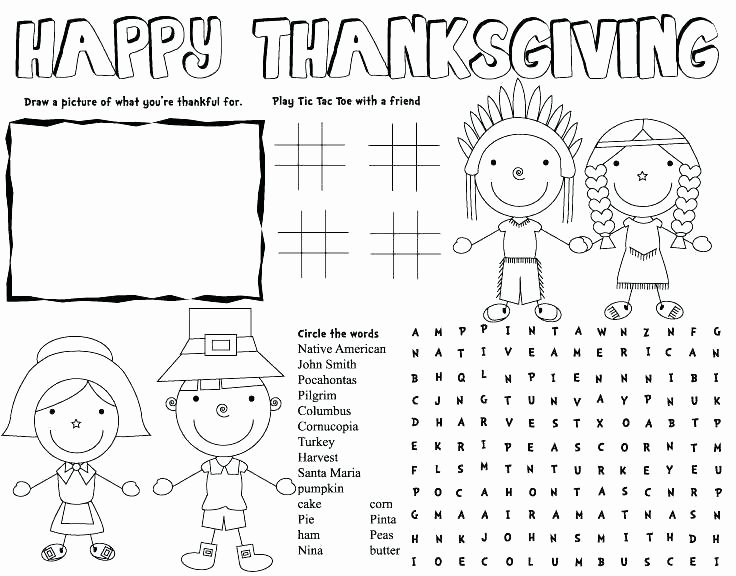 I Am Thankful for Worksheet Coloring Worksheet for Kindergarten Math Pages Thanksgiving