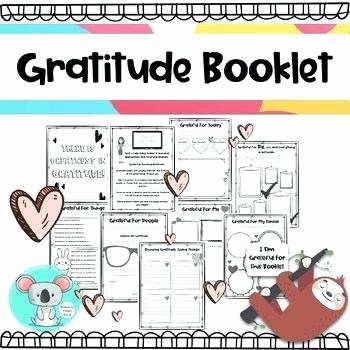 I Am Thankful for Worksheet Gratitude Journal Thankful 3 Worksheets 5 Expressing Weekly