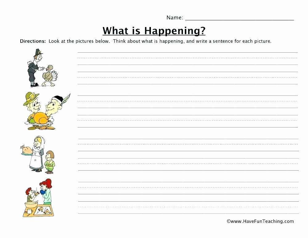 I Am Thankful for Worksheet Kindergarten Worksheets Thanksgiving