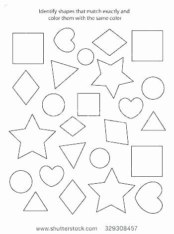 color the shapes worksheet early childhood math worksheets identify which shape is different categorizing kindergarten ide