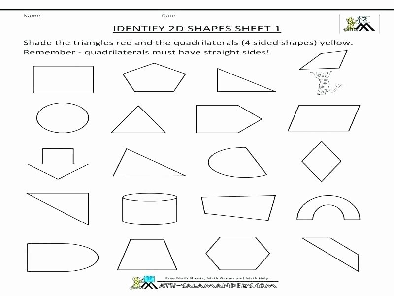 Identify Shapes Worksheet Grade Vocabulary Worksheets Kids Free Geometry Poetry Match