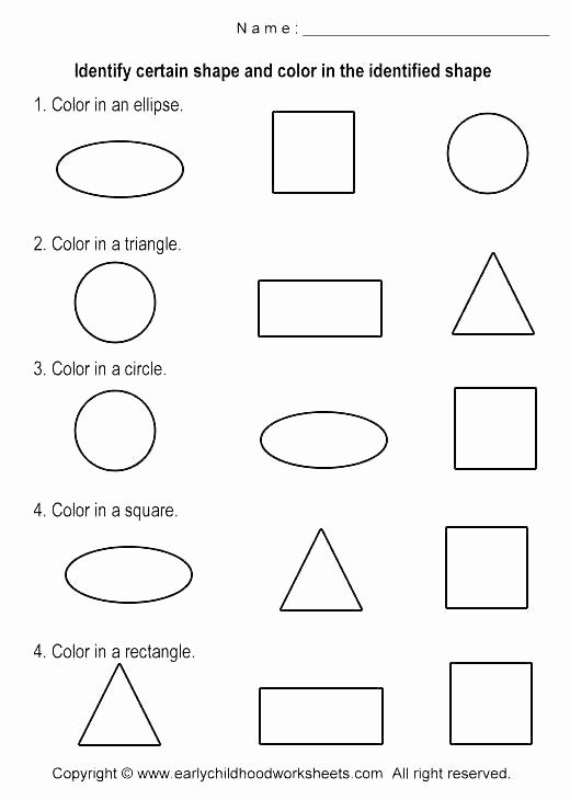 Identify Shapes Worksheet Kindergarten Free Preschool Worksheets Shapes